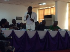 The representative of Head of Health Section EUD, Dr James Onoja Attah, delivering speech of EUD