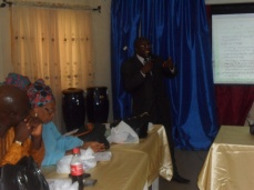 The EU-SIGN State Technical Assistant, Dr Is Funsho, making his presentation