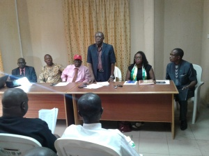 Anambra: The Honorable Commissioner of Health, Dr. Joe Akabuike, delivering his address during the meeting