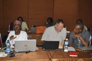 From L-R are Dr Goli, Mr Jeff Mecaskey and Dr James Attah at the Lagos Operations Research meeting, 28-29 July 2015